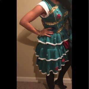 Holiday Christmas Tree Dress/Ugly Sweater
